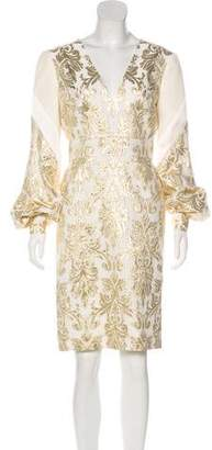 J. Mendel Silk-Blend Brocade Dress