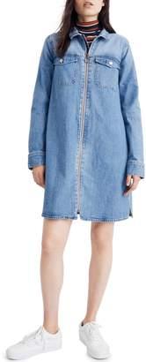 Madewell Front Zip Shirtdress