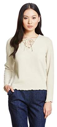 Moussy (マウジー) - (マウジー) MOUSSY LACE UP PULLOVER 0109AC80-6810 O/WHT FREE
