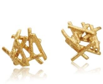 Karolina Bik Jewellery Nest Earrings Gold