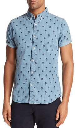 Sovereign Code Misty Palm Tree Short Sleeve Button-Down Shirt - 100% Exclusive