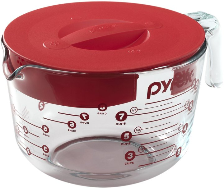 Pyrex Prepware Measuring Cup - Red/Clear - 8-cup