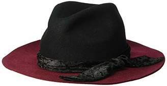 44d166bfd1a Orchid Row Women s Fashion Wranger Hat Velvet Band  Black ...