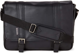 Ben Sherman Black Faux Leather Messenger Bag