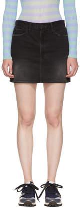 Frame Black Le Mini Denim Skirt