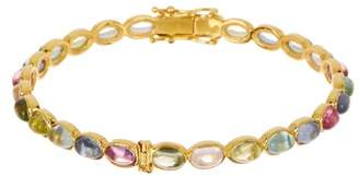 Forever Creations USA Inc. Gold Vermeil Multi Color Tourmaline Bangle