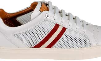 Bally Calf Leather And Mesh Low-top Sneaker In White