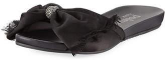 Pedro Garcia Gariela Satin Bow Slide Sandal