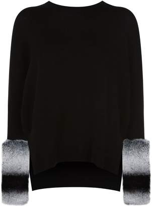 Izaak Azanei Fur Cuff Sweater
