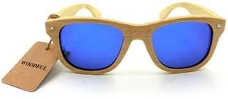 woodful Sunglasses - Sun Glasses,Bamboo Wooden Eyewear Sunglasses (, Brown)