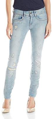 G-Star Raw Women's Lynn Mid Rise Skinny Fit Jean in Notto Stretch $116.72 thestylecure.com