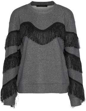 Walter W118 By Baker Alexis Fringed Cotton-Blend Sweatshirt