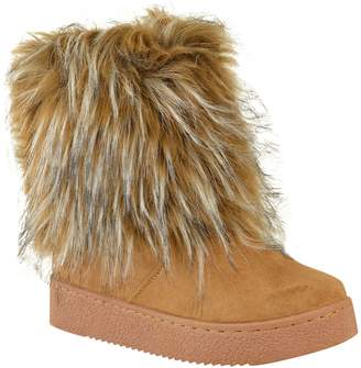 d536337b3a5 Fashion Thirsty Womens Flat Faux Fur Furry Winter Ankle Boots Low Heel  Fluffy Casual Size 7