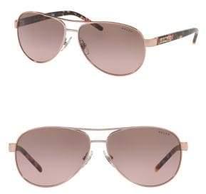 Ralph Lauren Ralph By Eyewear 59MM Aviator Sunglasses