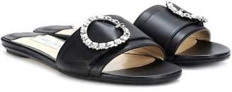 Jimmy Choo Granger embellished leather slides