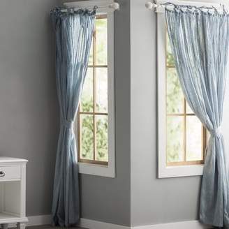 Lark Manor Poivre Solid Sheer Pinch Pleat Single Curtain Panel
