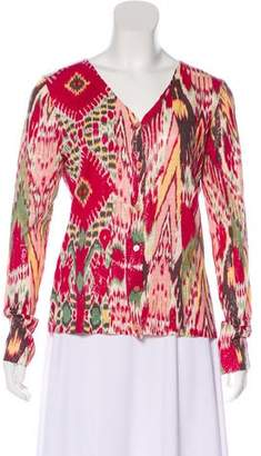 Kenzo Printed Button-Up Cardigan