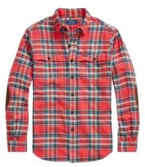 Polo Ralph Lauren Twill Long-Sleeve Plaid Sport Shirt