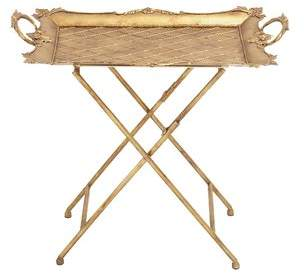 Cole & Grey Metal Tray Table