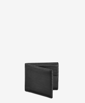 GiGi New York Bi-Fold Wallet, Black Vachetta Leather