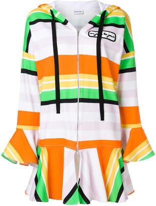 Au Jour Le Jour peplum striped hoodie