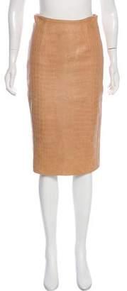 Cushnie et Ochs Leather Knee-Length Skirt