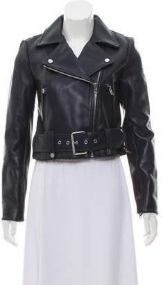Diane von Furstenberg Leather Moto Jacket w/ Tags