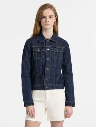 Calvin Klein dark wash denim trucker jacket