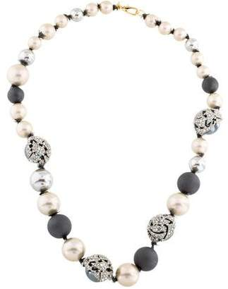 Alexis Bittar Faux Pearl & Crystal Bead Necklace