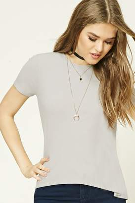 Forever 21 Ribbed High-Low Top
