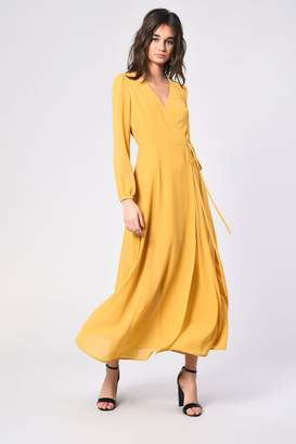 Glamorous Womens **Wrap Maxi Dress By Yellow