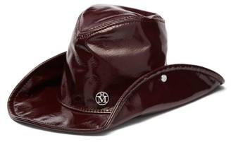 Maison Michel Enrico High Shine Pvc Hat - Womens - Burgundy