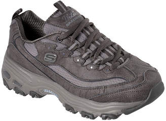 Skechers D'Lites Womens Training Shoes Lace-up