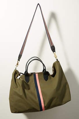Clare Vivier Waxed Canvas Weekender Bag