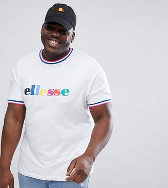 Ellesse Multi Color Logo T-Shirt In White