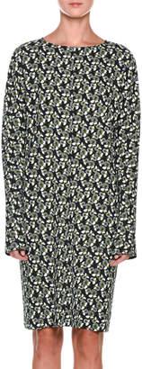 Marni Long-Sleeve Floral-Print Dress