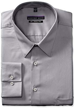 Geoffrey Beene Mens Dress Shirts Big Fit Solid Point Collar