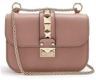 Valentino Lock Small Leather Shoulder Bag - Womens - Nude