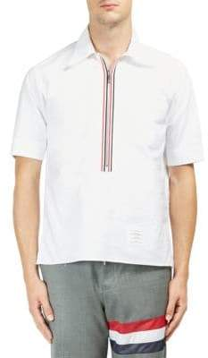 Thom Browne Zip Cotton Polo