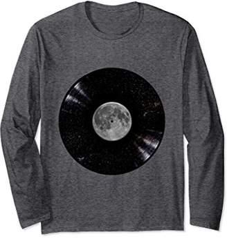 Super Awesome Moon Stars Vinyl Record Long Sleeve T-Shirt