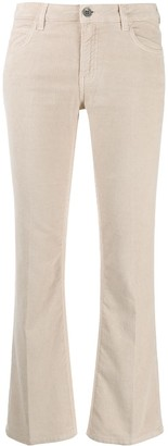 Haikure cropped flared trousers