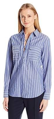 Equipment Women's Yarn Dyed Textured Stripe Knox