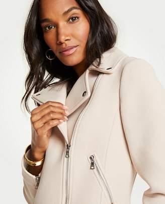 Ann Taylor Knit Twill Moto Jacket