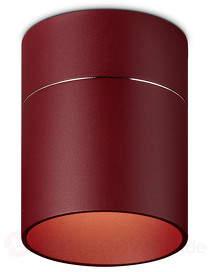 LED-Deckenlampe Tudor M in mattem Rot 13,9 cm