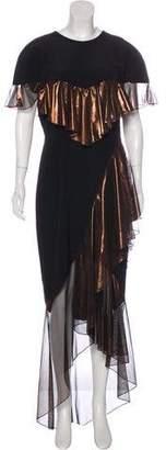 Christian Siriano 2017 Silk Ruffle Gown