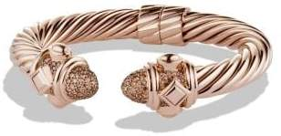 David Yurman Renaissance Bracelet With Cognac Diamonds In 18K Rose