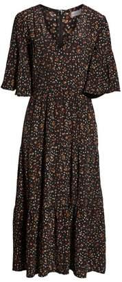 Faithfull The Brand Melia Ditsy Floral Print Midi Dress