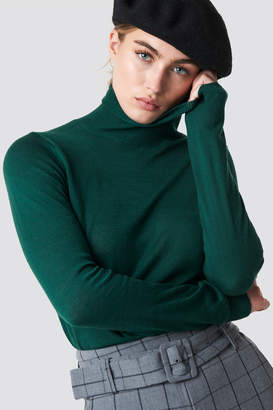 MANGO Agata Sweater Dark Green