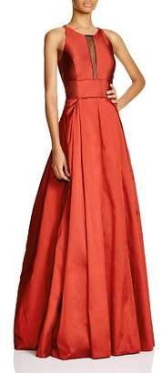 Aidan Mattox Sleeveless Illusion Neck Gown - 100% Exclusive