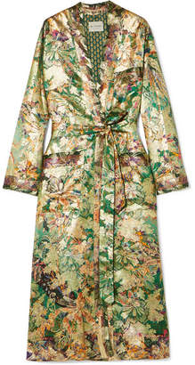Silk-blend Jacquard Jacket - Green